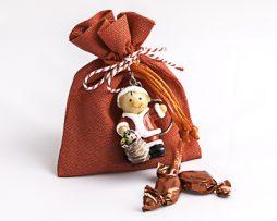 regalos de navidad - Saquitos con llavero navideño