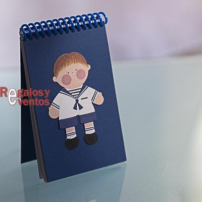 libreta primera comunión – Niño con traje marinero