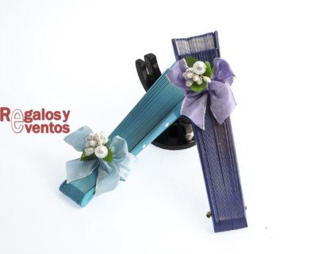 abanico para bodas tonos azules