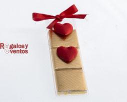 napolitanas de chocolate con corazones