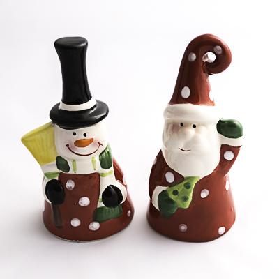 Campanita navideña de cerámica - detalle navideño - regalo de navidad