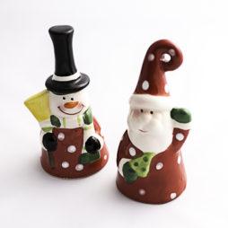 Campanita navideña de cerámica - detalle de navidad - regalo de navidad