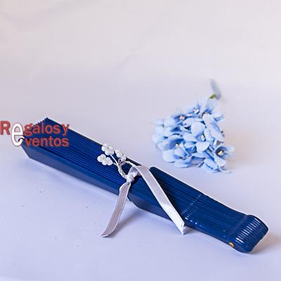Abanico regalo boda azul