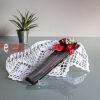 abanico negro con lunares rojos - abanico para boda