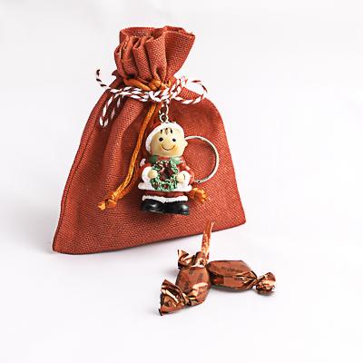 Saquitos con llavero de Navidad