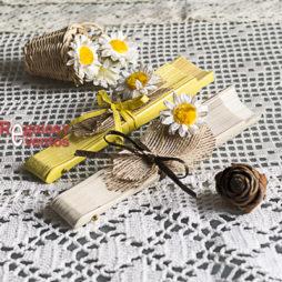 abanico para boda decoración margarita