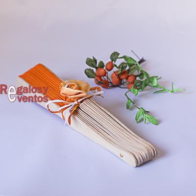 abanico boda pick naranja