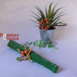 abanico verde regalo boda