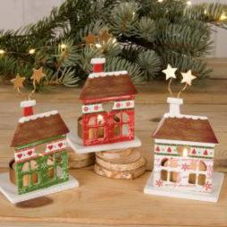Casitas portavelas navideñas, detalles de navidad, regalos de navidad