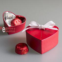 chocolates para bodas cajita corazón